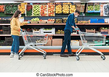 αραμπάς , γυναίκα , period., καραντίνα , ψώνια , κατά την διάρκεια , άντραs , υπεραγορά