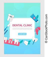 αραχνιά αρίθμηση σελίδας , ή , οδοντιατρικός , φόρμα , κλινική , σημαία