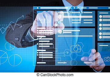 αραχνιά αρίθμηση σελίδας , browser , computer., κοινωνικός , vr , επεμβαίνω , μέσα ενημέρωσης , laptop