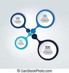 αριθμητική , infographic, scheme., στρογγυλός , element., φόρμα