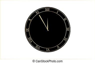 αριθμητικό , ρολόι , εικόνα , ρωμαϊκός , μικροβιοφορέας , retro