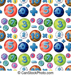αριθμοί , αφρίζω , seamless, στρογγυλός