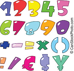 αριθμοί , γελοιογραφία , αναχωρώ