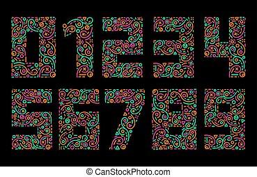 αριθμοί , γεμάτος χρώμα , ρυθμός , γραμμή , θέτω