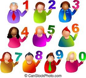 αριθμόs , άνθρωποι