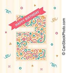 αριθμόs , γενέθλια , δυο , 2 , έτος , ευτυχισμένος , κάρτα , χαιρετισμός