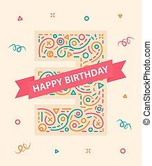 αριθμόs , γραφικός , τρία , χαιρετισμός , 3 , γενέθλια , έτος , κάρτα , ευτυχισμένος