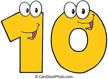 αριθμόs , δέκα