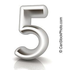 """αριθμόs , """"5""""-, πέντε"""