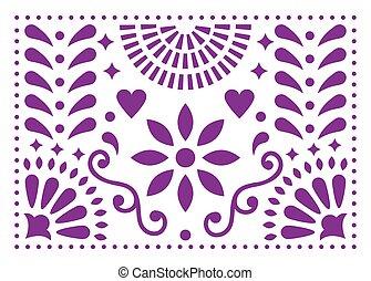 αριστοτεχνία αγωνιστική κατάσταση , μεξικό , πορφυρό , εμπνευσμένος , πρότυπο , παραδοσιακός , μικροβιοφορέας , σχεδιάζω , μεξικάνικος , λουλούδια , άνθρωπος