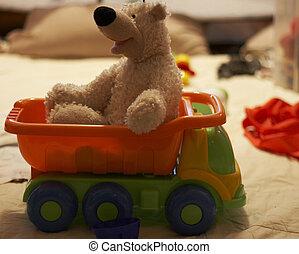 αρκούδα , μέσα , φορτηγό