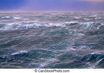 αρκτικός , storm., περιοχή , zemlya, novaya