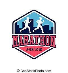 αρμοδιότητα , αγώνισμα , μικροβιοφορέας , εικόνα , μαραθώνας , αγώνας , logo., άνθρωποι , τρέξιμο