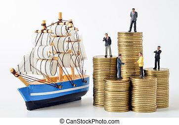 αρμοδιότητα ακόλουθοι , ιστιοφόρο , κέρματα , μινιατούρα , μοντέλο , θημωνιά