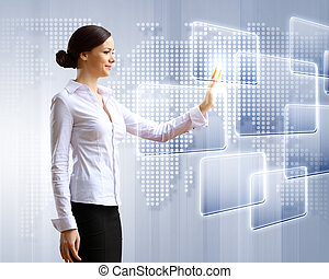 αρμοδιότητα γυναίκα , και , touchscreen, τεχνολογία