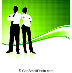αρμοδιότητα εργάζομαι αρμονικά με , επάνω , πράσινο , περιβάλλον , φόντο