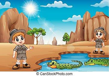 αρμοδιότητα , zookeeper , εγκαταλείπω , καλοκαίρι , ανάδρομος , κροκόδειλος