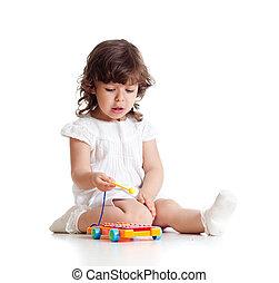 αρμονικός άθυρμα , λατρευτός , παίξιμο , παιδί
