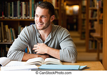 αρσενικό , εργαζόμενος , χαμογελαστά , σπουδαστής