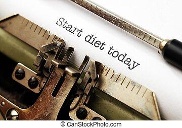 αρχή , δίαιτα , σήμερα