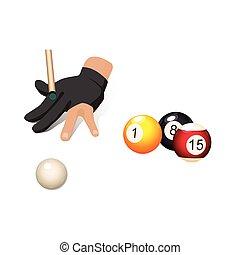 αρχίδια , γάντι , χέρι , νύξη , μπιλιάρδο , αποβλέπω , κερδοσκοπικός συνεταιρισμός