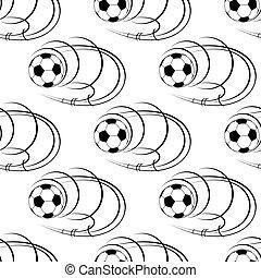 αρχίδια , πρότυπο , seamless, μπάλα ποδοσφαίρου , ποδόσφαιρο , ή