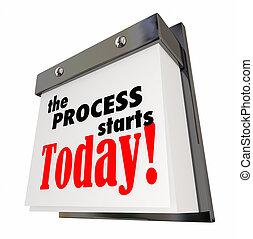 αρχίζω , διαδικασία , αναπηδώ , εικόνα , ημερομηνία , ημερολόγιο , ημέρα , σήμερα , 3d