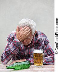 αρχαιότερος , μεθυσμένος , επακόλουθο μέθης , άντραs