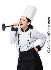 αρχιμάγειρας , δράση , γυναίκα , όμορφη