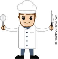 αρχιμάγειρας , μικροβιοφορέας , γελοιογραφία