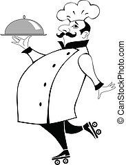 αρχιμάγειρας , πιάτο , πατίνια