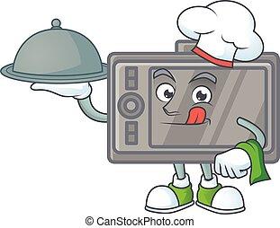 αρχιμάγειρας , τροφή , υπηρετώ , wacom, έτοιμος , δίσκος , εικόνα