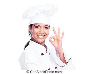 αρχιμάγειρας , woman.