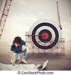 αρχιτέκτονας , αναπτύσσω , ένα , επιχείρηση , στόχος , ., αναδεύω media