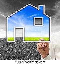 αρχιτέκτονας , δολόπλοκος , ένα , eco, φιλικά , σπίτι