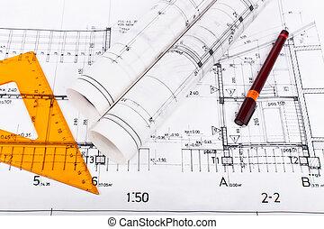 αρχιτέκτονας , κυλιέμαι , και , διάγραμμα