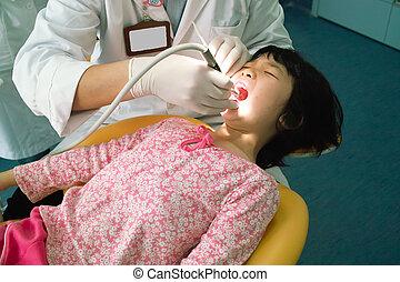 ασιάτης , παιδί , δόντια , έλεγχος