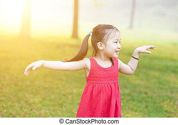 ασιατικός άπειρος , χορός , outdoors.