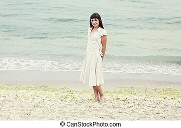 ασπασμός , ζευγάρι , παραλία
