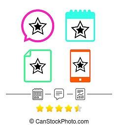 αστέρας του κινηματογράφου αναχωρώ , icon., ευνοούμενος , button., navigation.