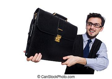 αστείος , άσπρο , επιχειρηματίας , χαρτοφύλακας , ...