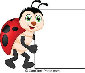 αστείος , έντομο , s , κενό , κυρία , γελοιογραφία