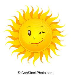 αστείος , ήλιοs