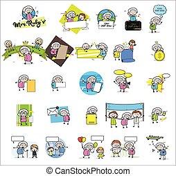 αστείος , αντίληψη , μικροβιοφορέας , γιαγιά , διευκρίνιση , - , γριά , διαφορετικός , συλλογή