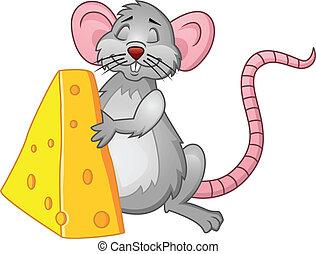 αστείος , αρουραίος , τυρί