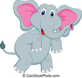 αστείος , γελοιογραφία , ελέφαντας