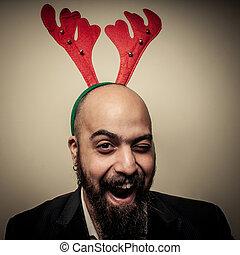 αστείος , γενειοφόρος , αναβοσβήνω , εκφράσεις , xριστούγεννα , άντραs