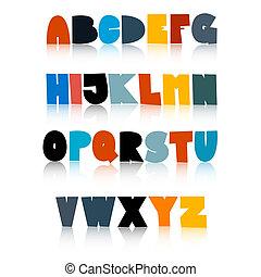 αστείος , θέτω , γραφικός , αλφάβητο , απομονωμένος , φόντο , άσπρο