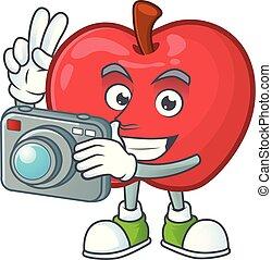 αστείος , μήλο , φωτογράφος , χορτοφάγοs , χαρακτήρας ,...