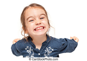 αστείος , μικρός , έκφραση , κορίτσι
